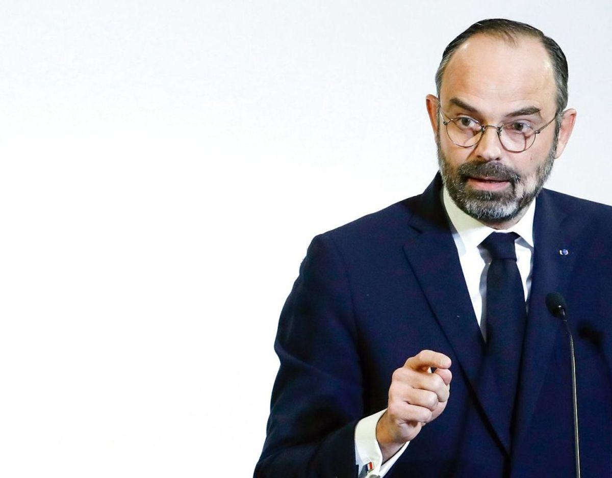 Frankrigs premierminister Edouard Philippe skal ære borgmester. Foto: Scanpix