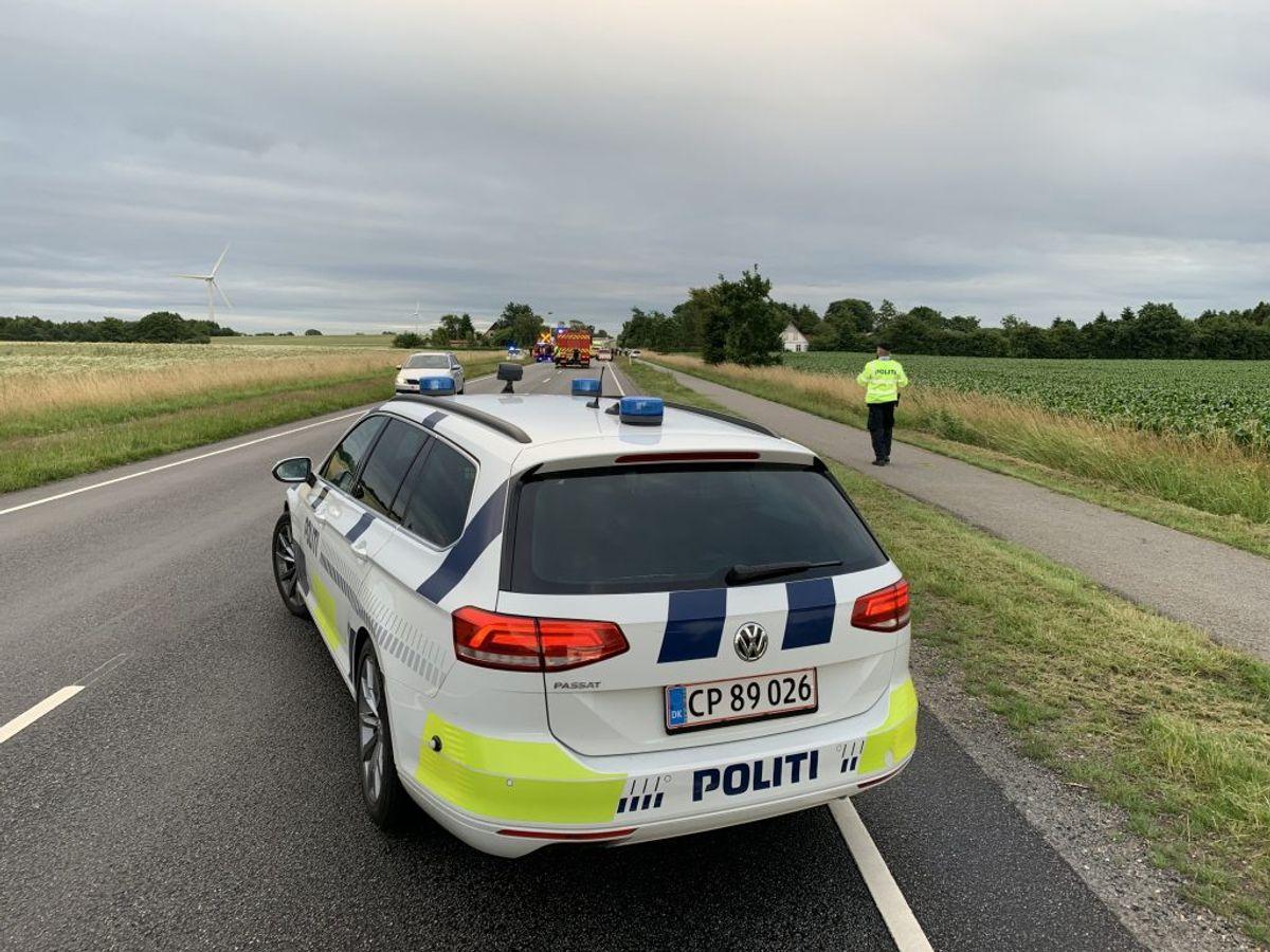 Flere meldes i livsfare efter ulykken. Foto: Øxenholt Foto/Peter Krog