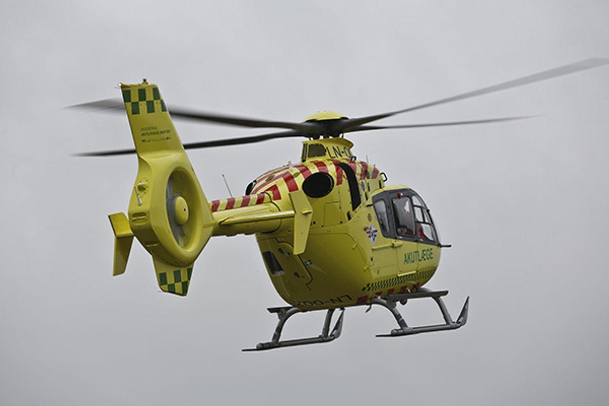 En helikopter er tilkaldt til ulykken. Arkivfoto: René Lind Gammelmark