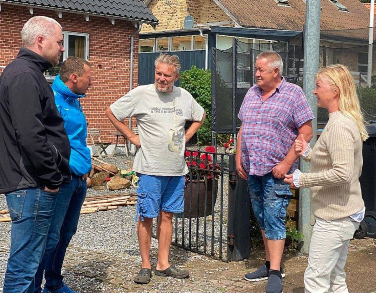 Beboere på Nørreskov Bakke planlægger at lave en række aktioner for at gøre opmærksom på deres situation. Foto: TV2 Østjylland.