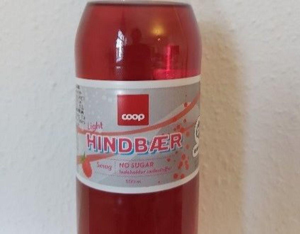Det er denne hindbær-sodavand, der er kaldt tilbage. Foto: Fødevarestyrelsen
