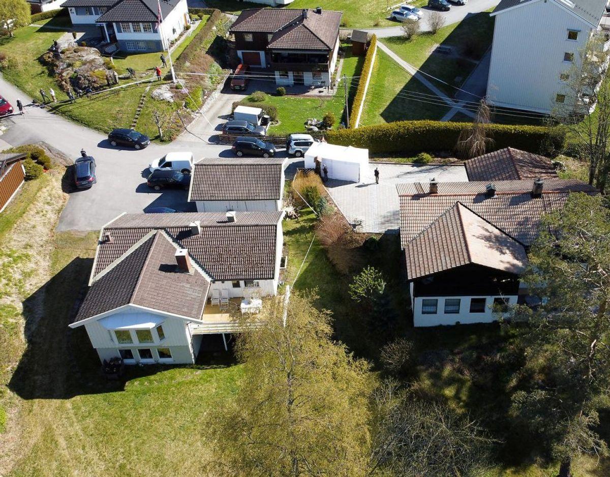 Politiet har flere gange ransaget parrets hjem. Foto: Scanpix/Tore Meek
