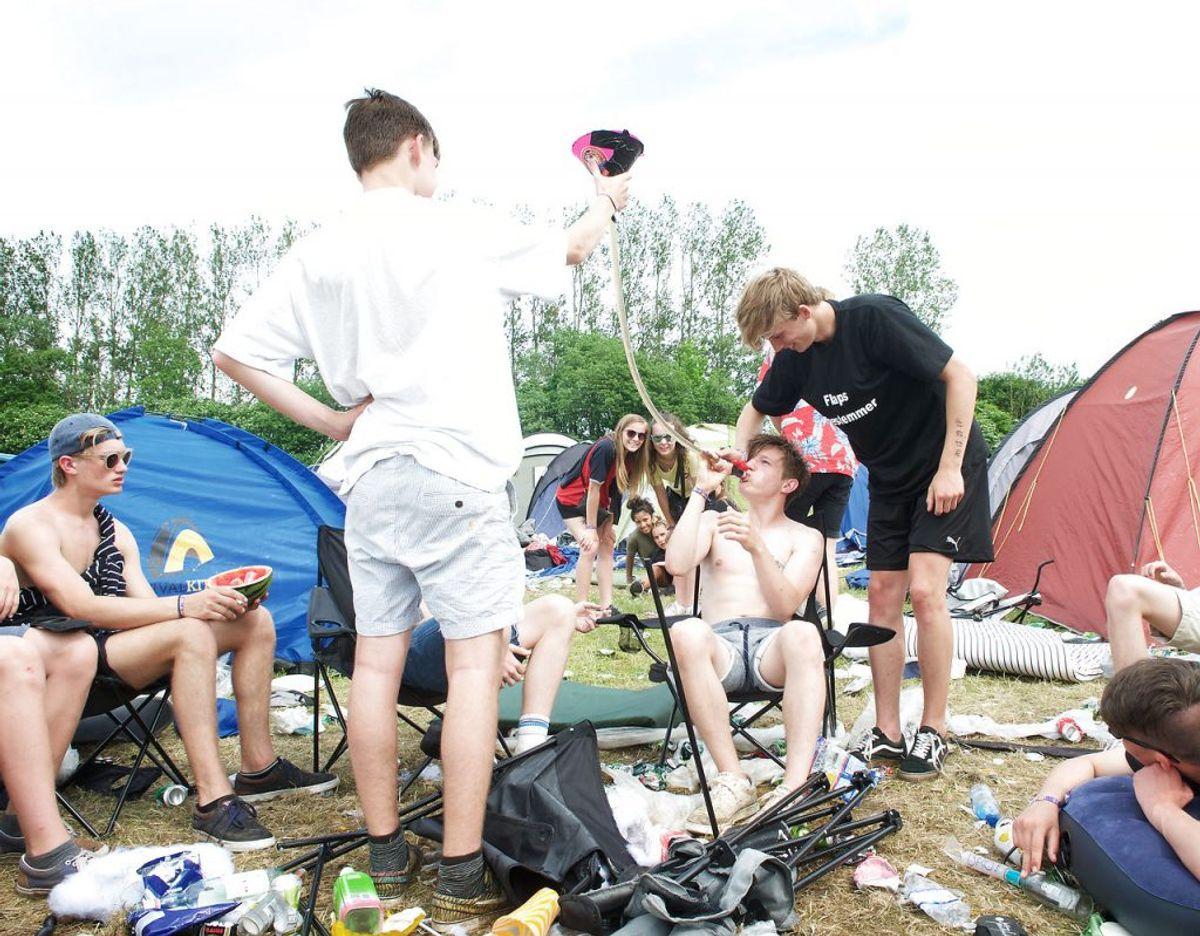 1000 unge i denne uge og 1500 i næste gør borgmesteren bekymret. (NB: Dette er et arkivfoto fra Jelling Festival 2016.) Foto: Sonny Munk Carlsen/Scanpix