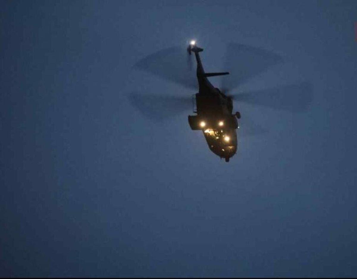 Ved tidligere eftersøgninger af den 73-årige er der gjort brug af helikopter, droner og politihunde. Foto: Local Eyes