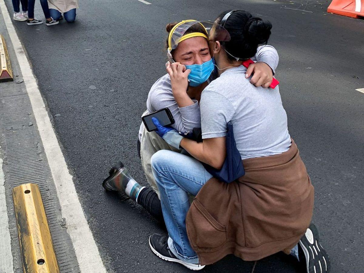Et jordskælv i Mexico er målt til 7,7. Foto: Tomas Bravo/Scanpix.