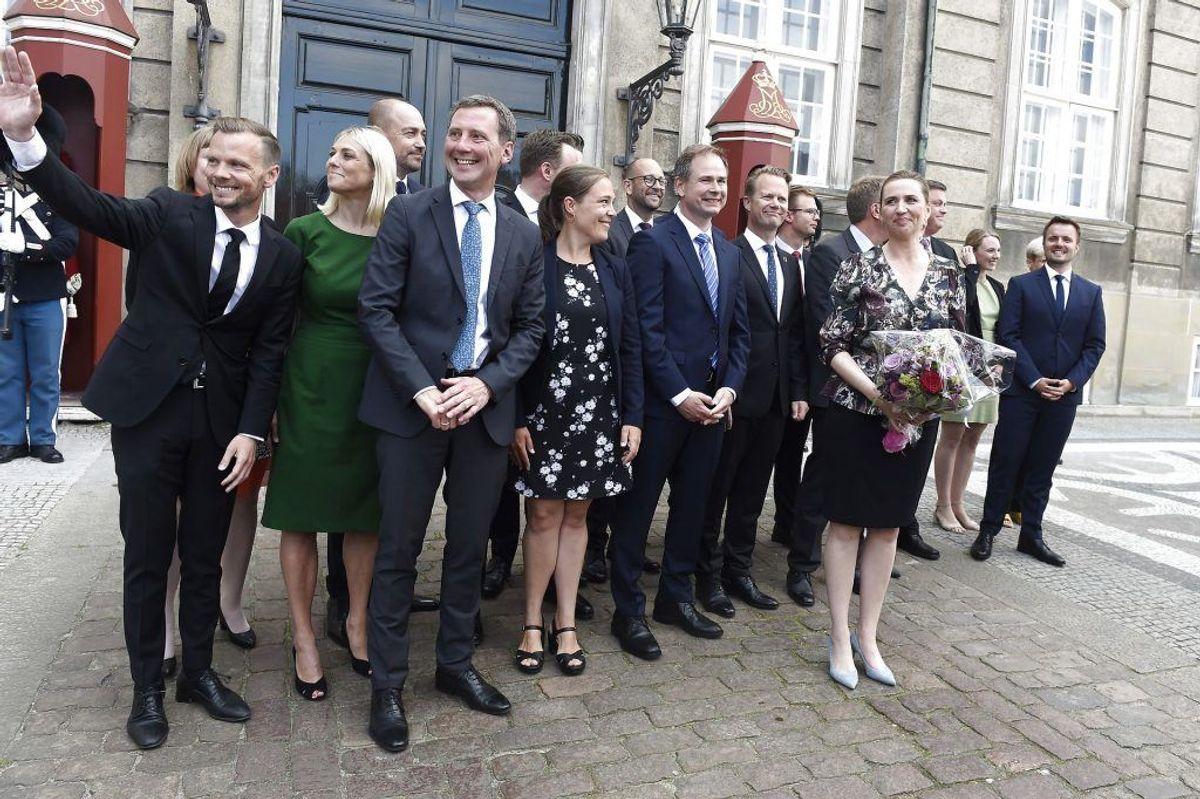 Præsentationen af den nye S-regering på Amalienborg i København. KLIK og se ministrene en for en. (Foto: Liselotte Sabroe/Scanpix 2019)