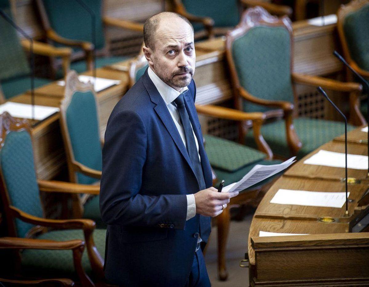 Magnus Heunicke er Sundheds- og Ældreminister. Foto: Liselotte Sabroe/Ritzau Scanpix