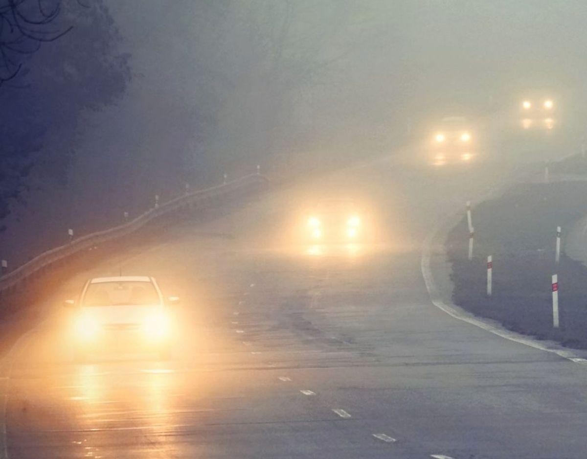 En tågeforlygte der ikke virker. Foto: Scanpix