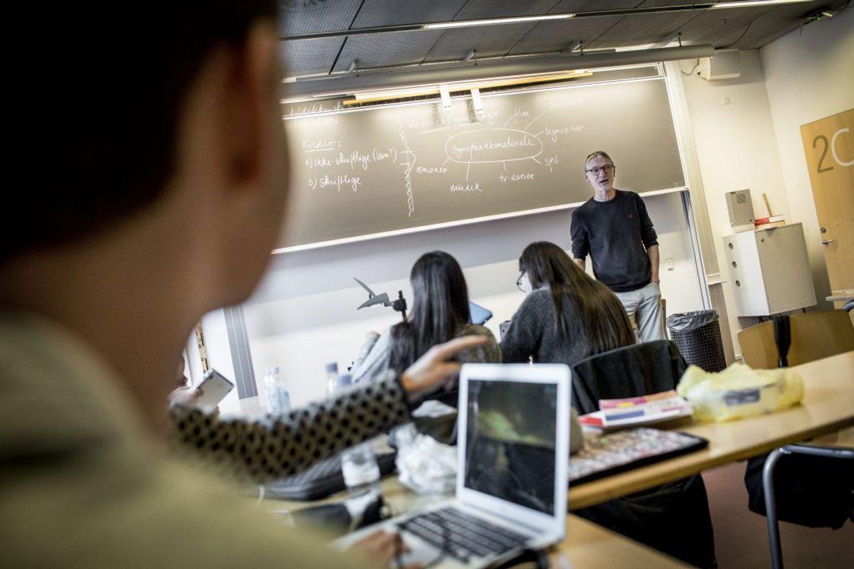 MÅ ÅBNE FRA 27. MAJ: Ungdomsuddannelser som gymnasier og erhvervsuddannelser. Foto: Scanpix.
