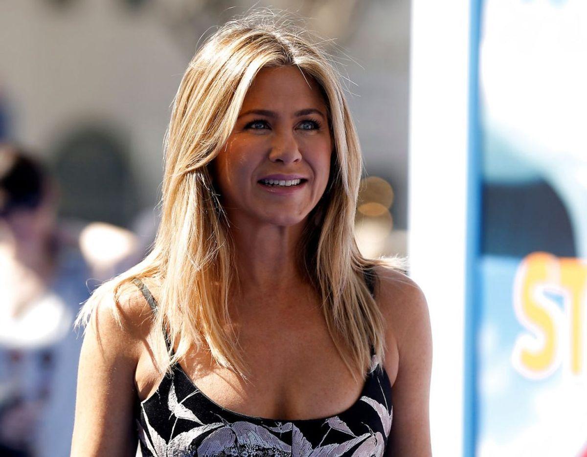 Provenuet for salget af nøgenfotoet af Jennifer Aniston går ubeskåret til  organisationen Naf Clinics, som tilbyder gratis test for koronavirussen. Klik videre for flere billeder. Foto: Scanpix/REUTERS/Mario Anzuoni