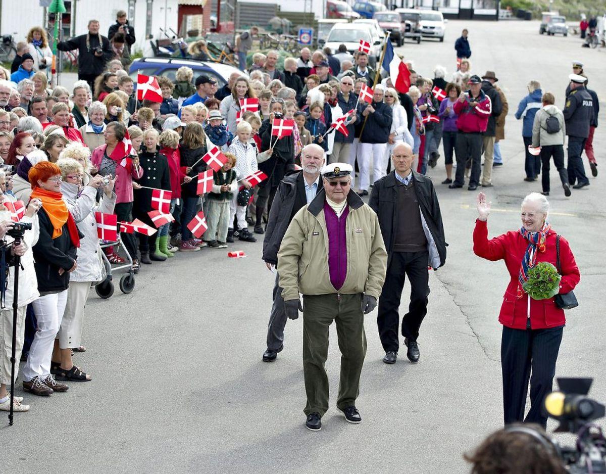 Senest Anholt fik besøg af regenten var i 2011, da hun og prins Henrik brugte en dag på øen i Kattegat. Foto: Henning Bagger/Ritzau Scanpix