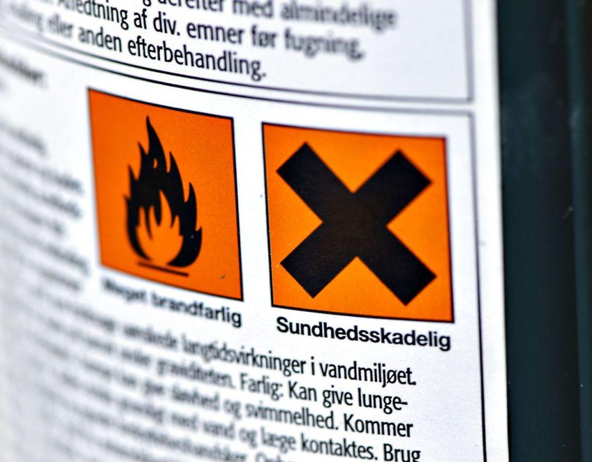 Drop skrappe kemikalier, som belaster miljøet. Kilde: Bolius, Hofor. Foto: Scanpix
