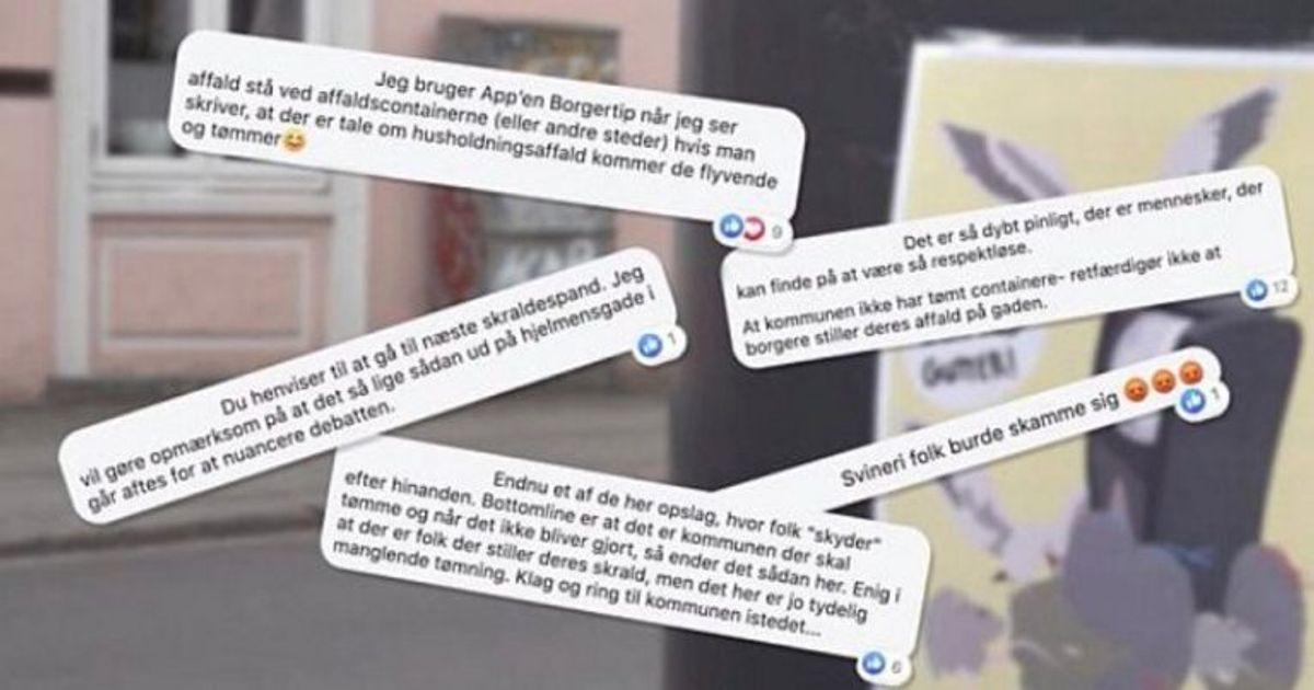 """Facebook-gruppen """"Øgadens beboere"""" er ofte samlingspunkt for diskussioner om skraldet. Foto: TV2 Østjylland."""