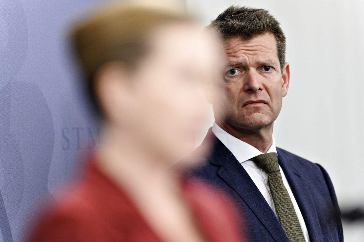 Jyllands-Posten skriver, at Søren Brostrøm og Sundhedsstyrelsen ikke anbefalede nedlukning. (Foto: Philip Davali/Ritzau Scanpix)