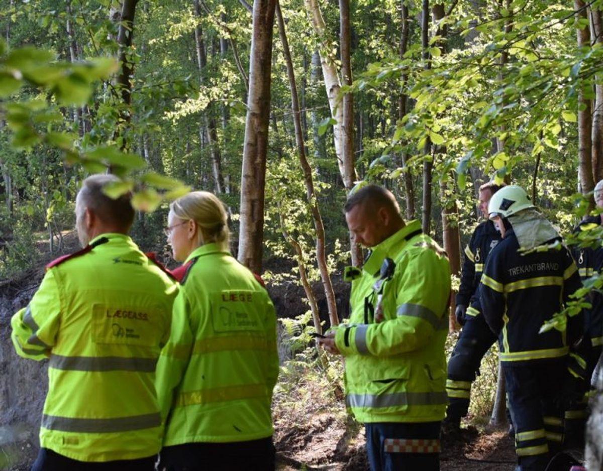 Manden er i kritisk tilstand. Foto: Presse-fotos.dk.