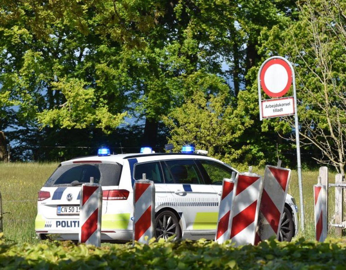 Politiet er på sagen. Foto: Presse-fotos.dk.