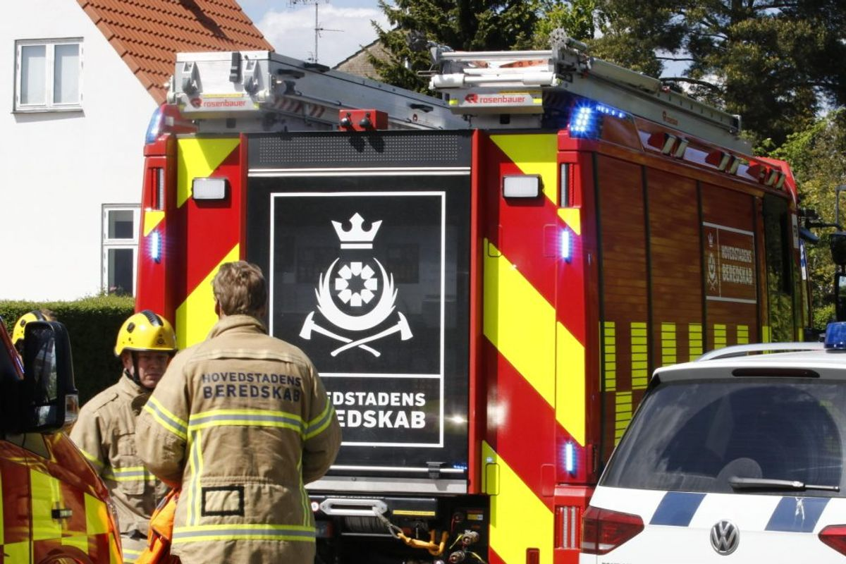 Redningsindsats i gang i Brønshøj. Foto: Presse-fotos.dk