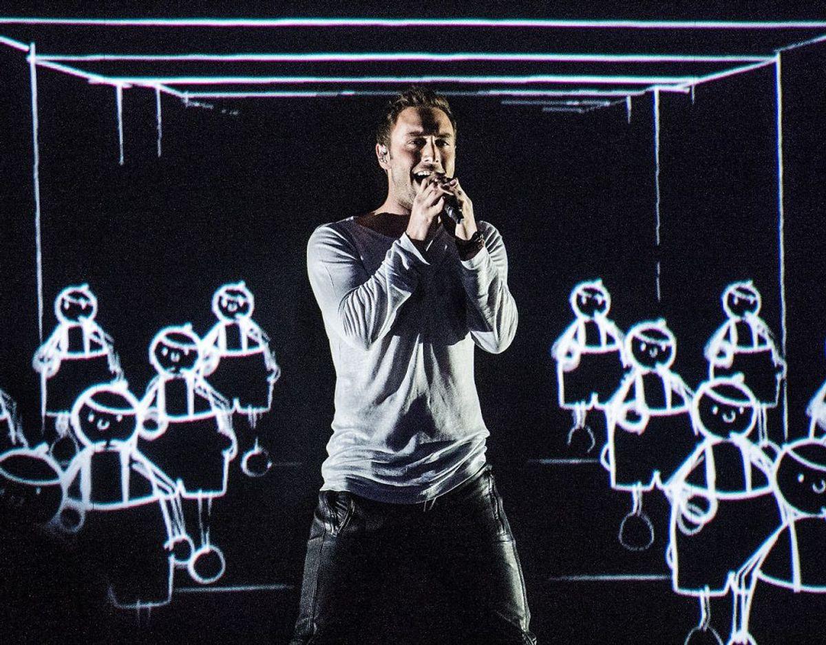 Den svenske vinder af Eurovision i 2015 Måns Zelmerlöw vender også tilbage og spiller hittet Heroes, han vandt med. Foto: Ritzau Scanpix/ Arkiv