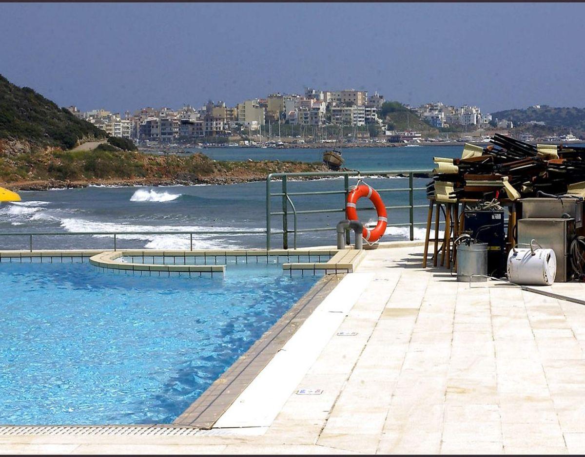 Hotellerne på Kreta ligger for tiden øde hen. Foto: Scanpix