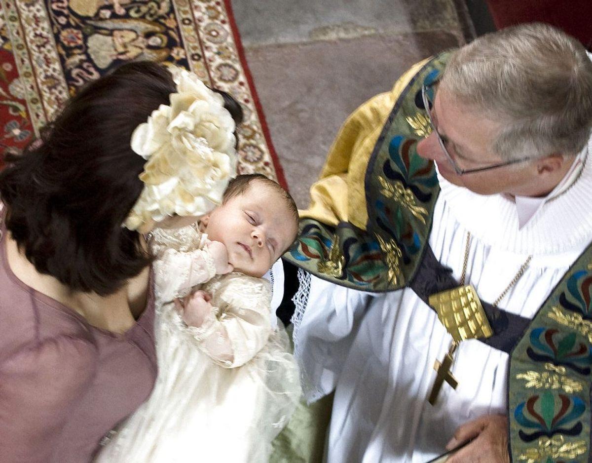 Prinsesse Isabella blev født den 21. april 2007. Hun blev døbt den 1. juli samme år. Foto: Jens Nørgaard Larsen/Ritzau Scanpix