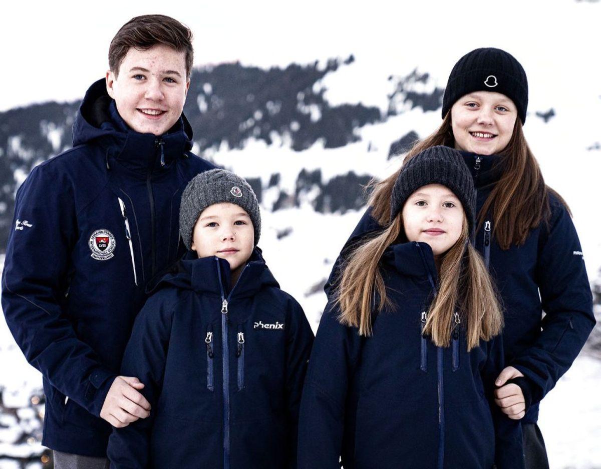 Prinsesse Isabella der den 21. april 2020 fylder 13 år har netop afsluttet et skoleophold i Schweiz med sine søskende. Til dagligt går de alle på Tranegårdskolen. Foto: Ida Guldbæk Arentsen/Ritzau Scanpix