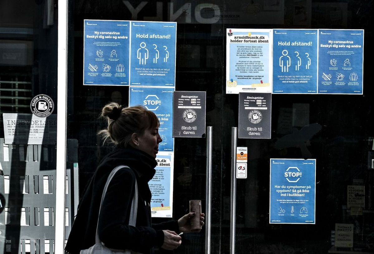 Sådan ser det ud mange steder i Danmark. Lukket, lukket, lukket. (Foto: Henning Bagger/Ritzau Scanpix)