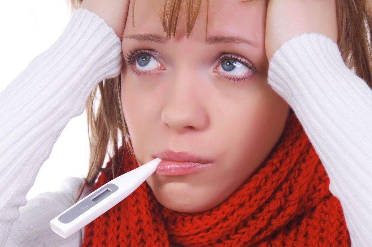 Har du feber i mere end 14 dage, er der risiko for, at du har feber som følge af en kræftsygdom. Kilde: Sundhed.dk.