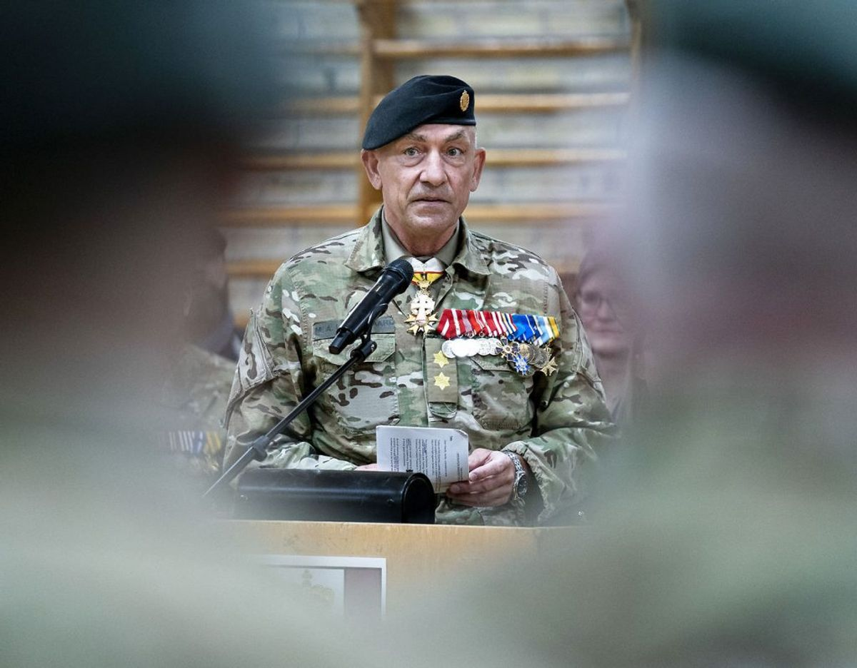 Chefen for Hæren, generalmajor Michael Anker Lollesgaard er sendt i hjemmekarantæne. Foto: Henning Bagger/Ritzau Scanpix)