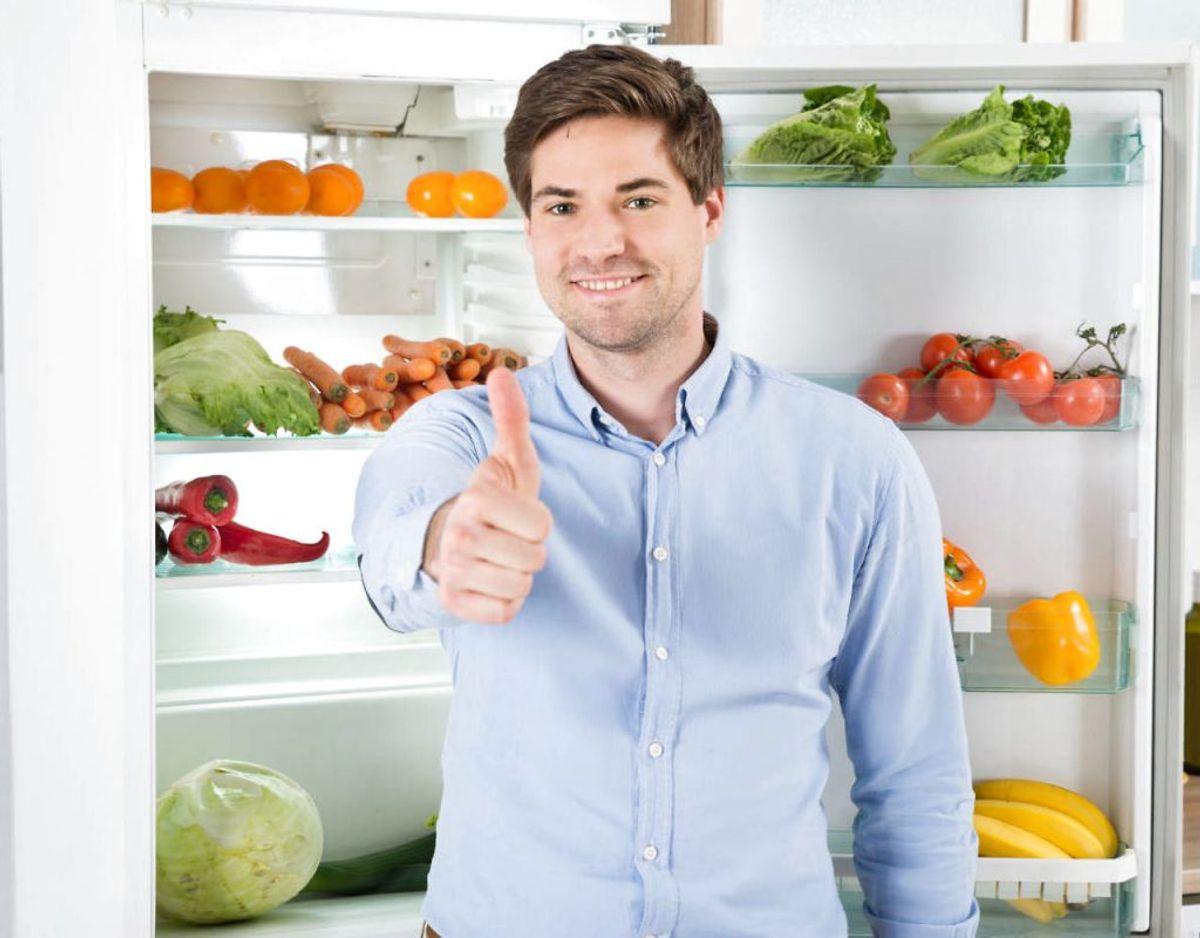 Husk at tjekke temperaturen i dit køleskab. Den må aldrig overstige fem grader. Klik videre for flere oplysninger. Foto: Scanpix/