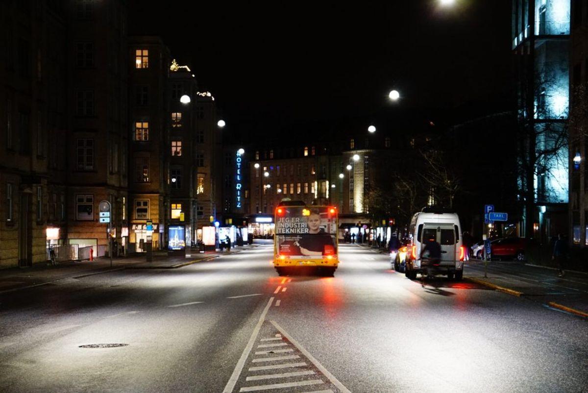 Det var på den trafiktunge Park Allé, at børnene blev fundet. Foto: Presse-fotos.dk