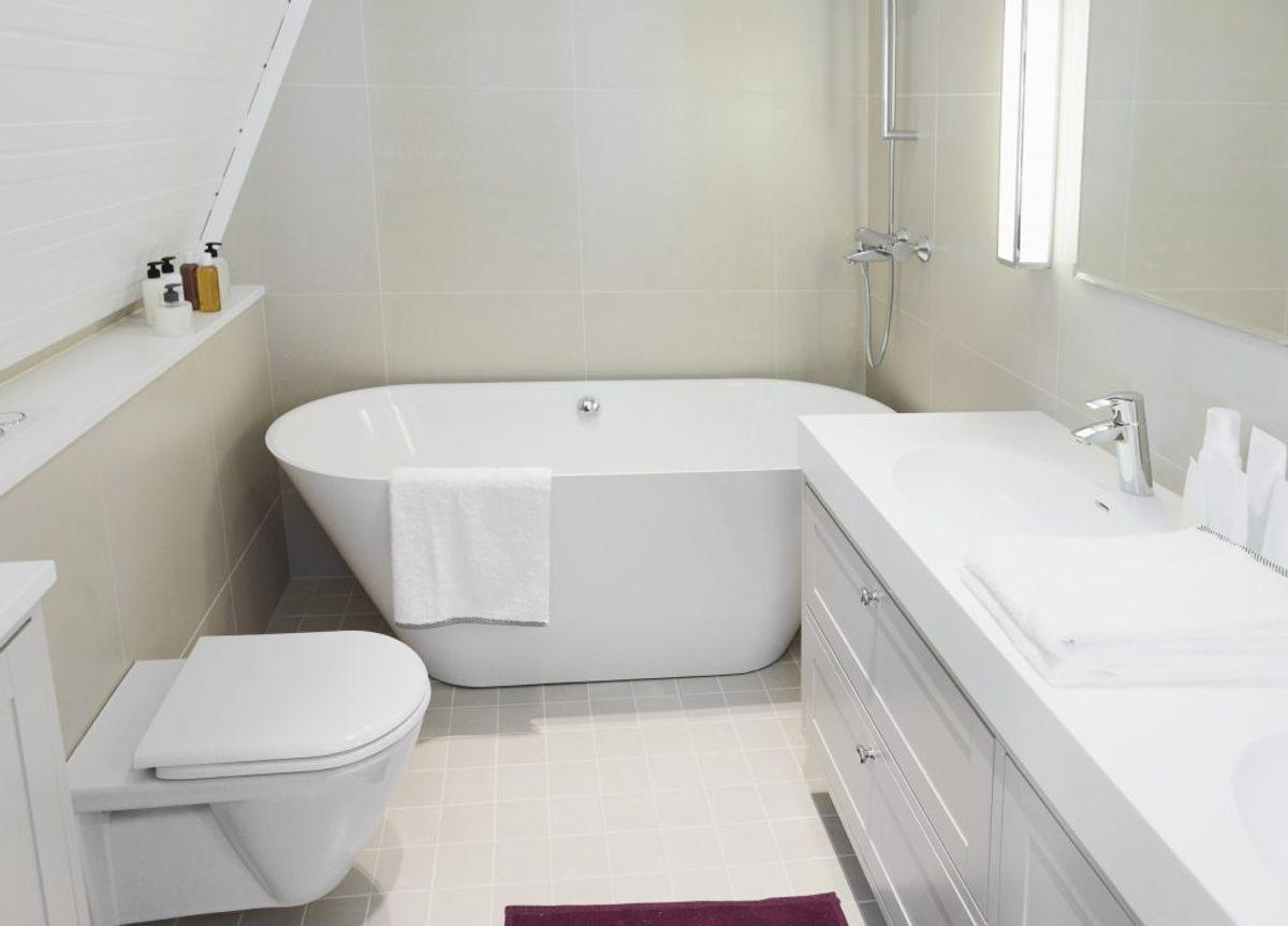 Der er lette metoder til at holde dit badeværelse skinnende rent. KLIK og se de gode råd. Foto: Colourbox.