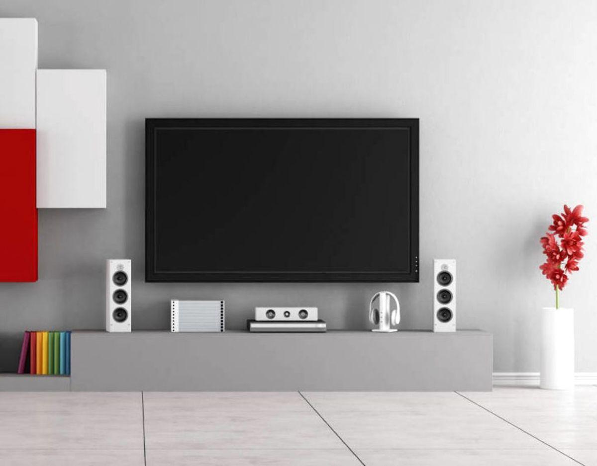 Har du højtalere til dit tv kan du med fordel bruge en støvsuger. Hvis du er nervøs for det, kan du istedet bruge en fnugrulle til at fjerne støv fra højtalerne. Desuden fungerer mikrofiberkluden også her. Foto: Scanpix