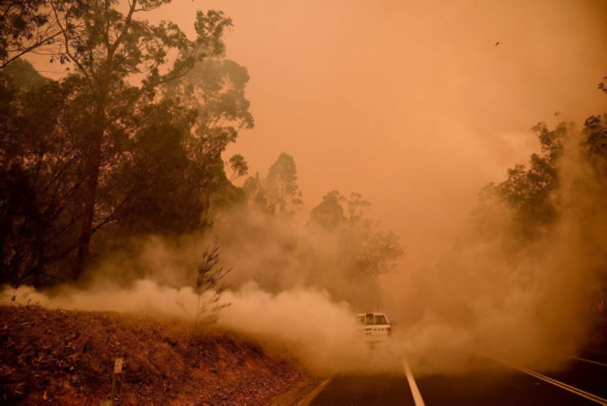 Et område noget større end hele Danmark er brændt ned i Australien, hvor tusindvis af indbyggere har forladt deres hjem på flugt fra store naturbrande. KLIK FOR FLERE BILLEDER. (Arkivfoto). Foto: Peter Parks/AFP