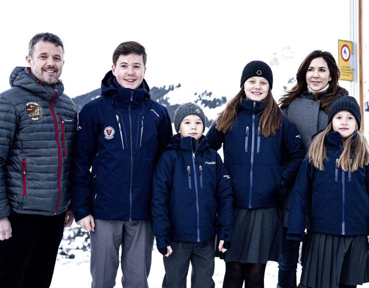 Kronprinsparrets børn starter i skole i Verbier. Foto: Ida Guldbæk Arentsen/Ritzau Scanpix