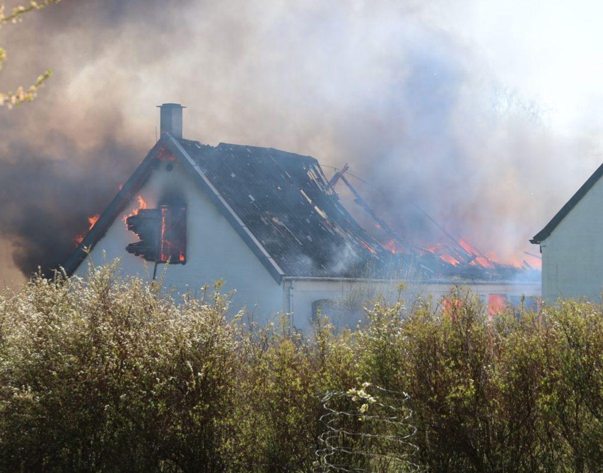 Kiehns hus brændte ned. Foto: Presse-fotos.dk