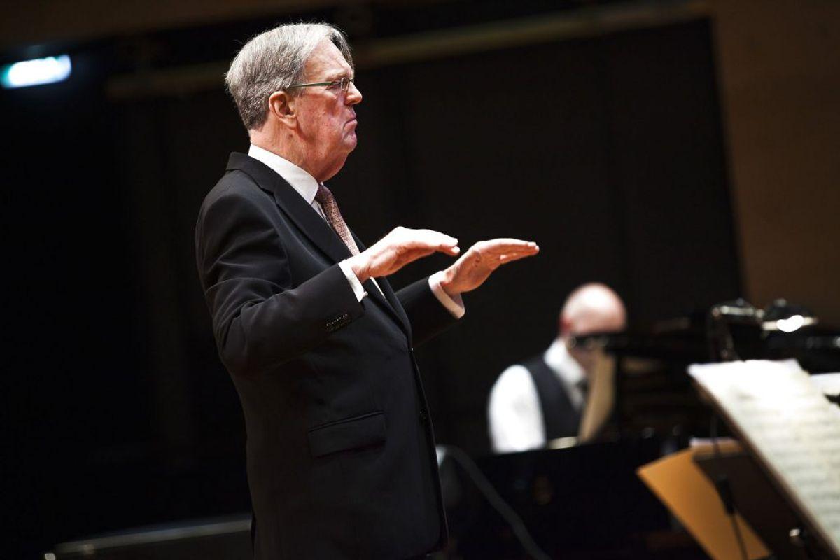 Dirigent og orkesterleder Ib Glindemann. (Foto: Martin Sylvest Andersen/Ritzau Scanpix)