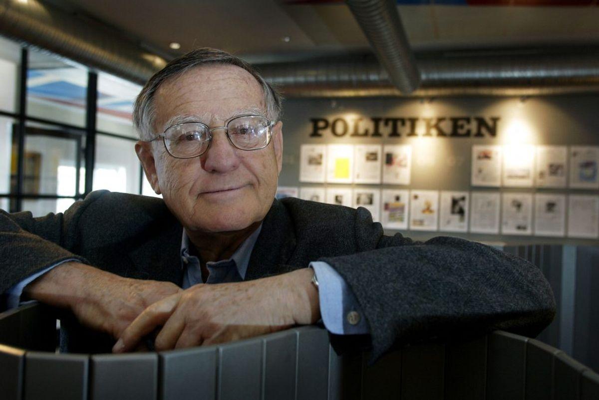 Herbert Pundik, Politikens tidl. chefredaktør. (Foto: Carl Redhead/SCANPIX NORDFOTO 2003)