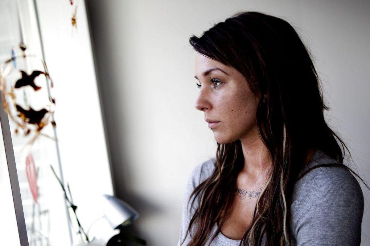 Malou Stella fra De unge Mødre har i et interview med BT fortalt, at hun har som ung tog kokain, og at det gjorde hende glad, mens amfetamin mest af alt gjorde, at hun ikke kunne sove. Foto:  Jeppe Michael Jensen/Scanpix.