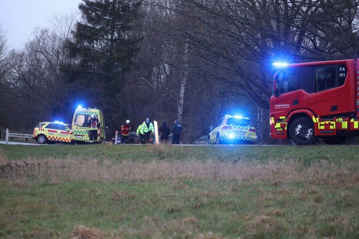 En 34-årig mand er død efter en soloulykke lørdag Foto: Presse-fotos.dk