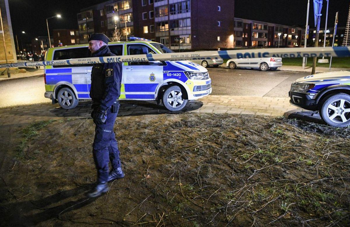 To mænd er alvorligt såret efter en skudepisode i Uppsala i Sverige. Arkivfoto: Scanpix.
