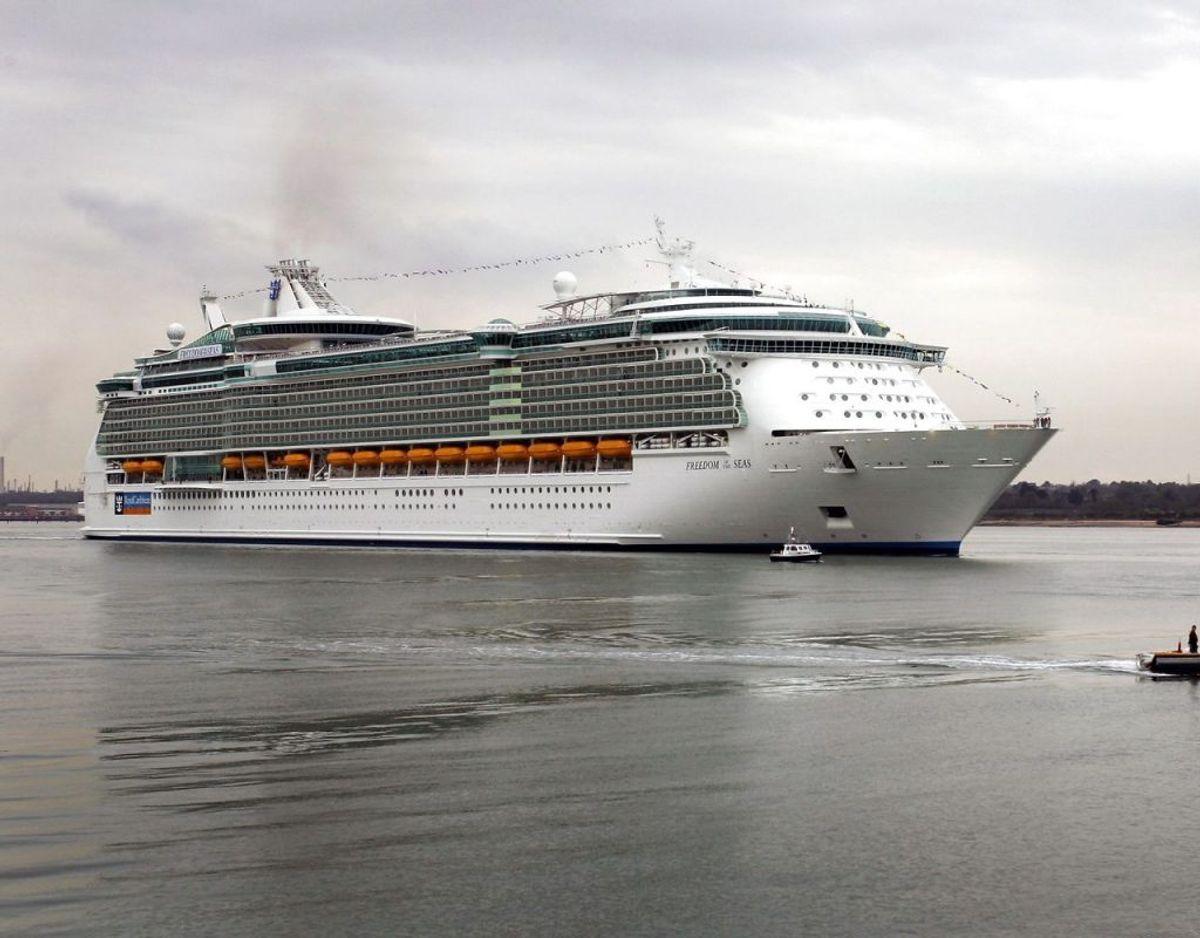 Freedom of the Seas. Et af verdens største krydstogtskibe. Foto: Scanpix