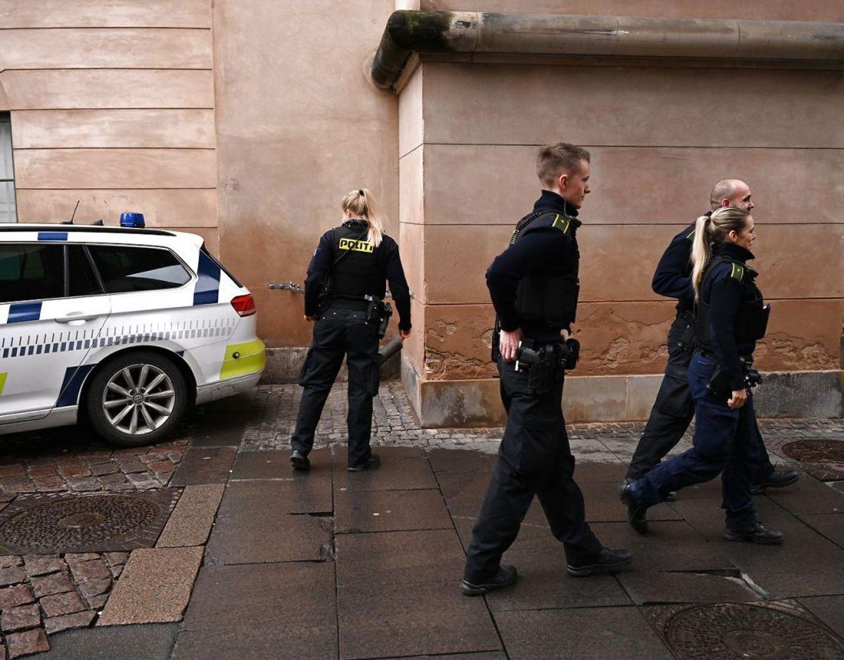 Otte personer er torsdag blevet fremstillet i grundlovsforhør i Københavns Byret. Mens en person er fremstillet i Odense Byret. Foto: Philip Davali/Ritzau Scanpix