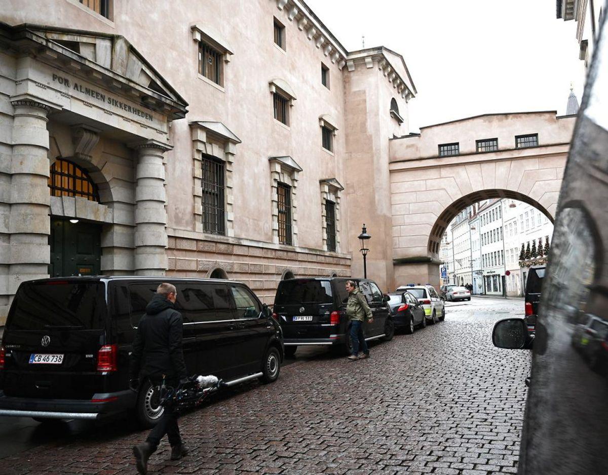 Otte personer er torsdag blevet fremstillet i grundlovsforhør i Københavns Byret efter aktionen. En niende fremstilles for dobbeltlukkede døre i Odense Byret. Foto: Philip Davali/Ritzau Scanpix