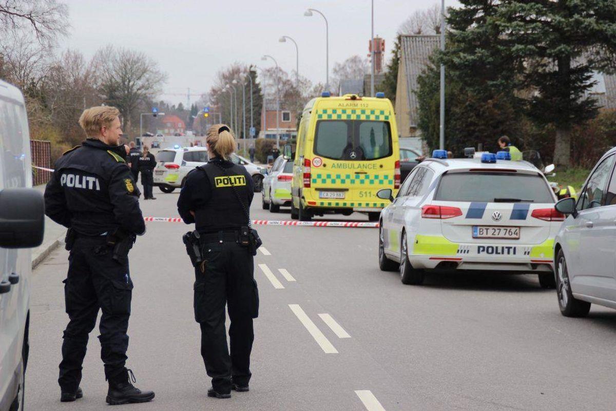 Drabet blev begået på Stengårds Allé i Gladsaxe. KLIK FOR FLERE BILLEDER. (Foto: Presse-fotos.dk)