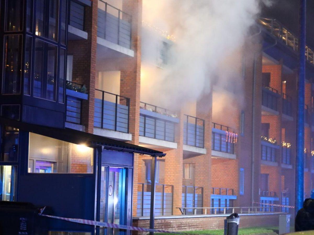 Anmeldelsen lød på, at lejligheden var overtændt. KLIK FOR FLERE BILLEDER. Foto: Presse-fotos.dk