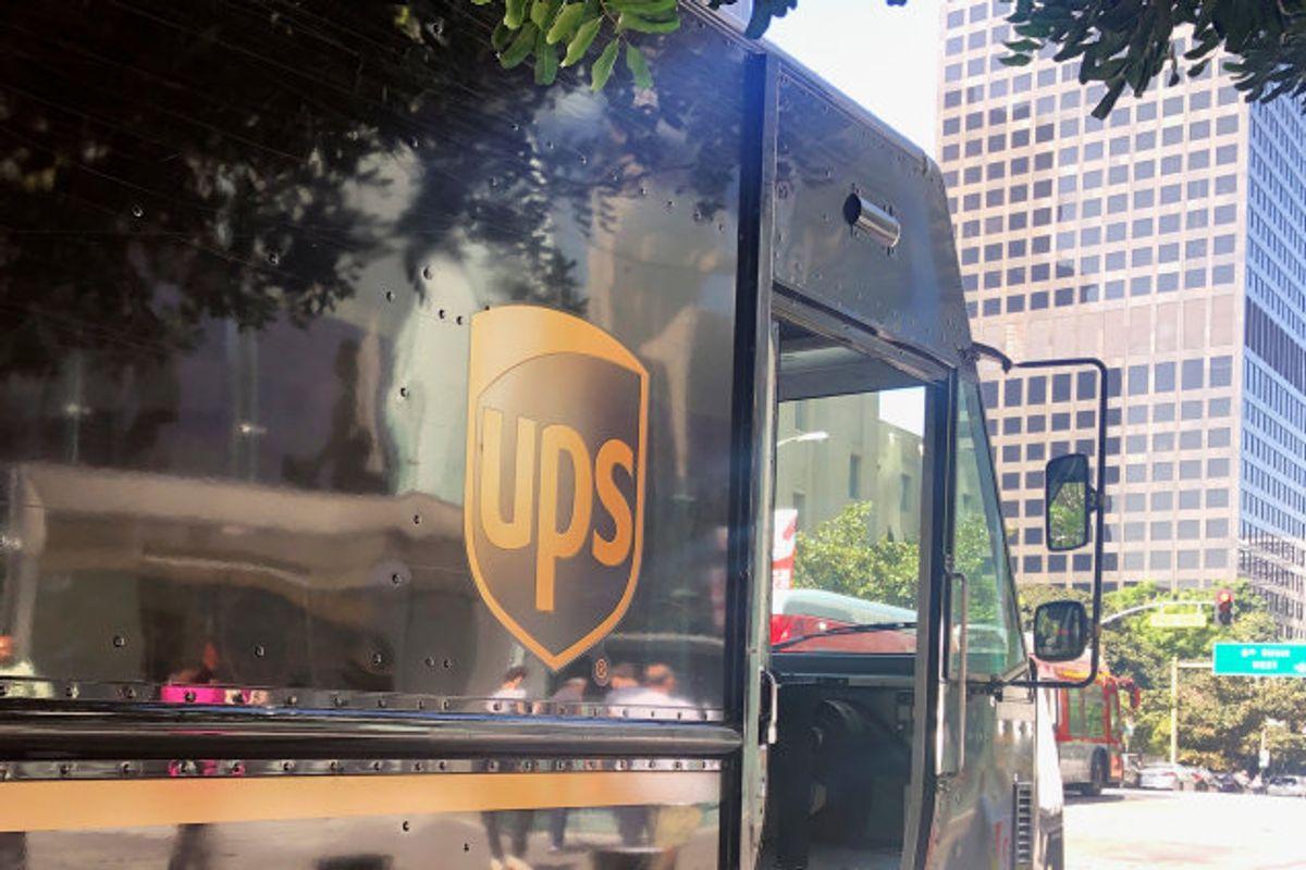 En varevogn fra fragtfirmaet UPS endte i centrum af en voldsom biljagt i Florida. (Arkivfoto.) Foto: Lisa Baertlein/Reuters