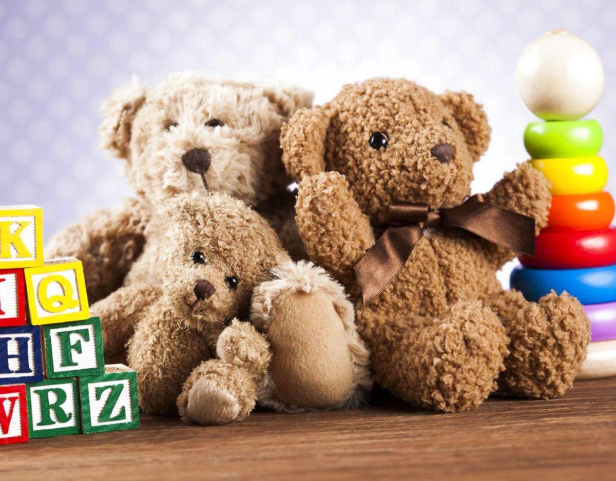 Opbevarer du legetøj særligt bamser i kælderen, skal du sikre dig, at de ligger i en lufttæt beholder, ellers opdager du, at støvmider, mus eller andre insekter har bidt i det. Foto: Scanpix