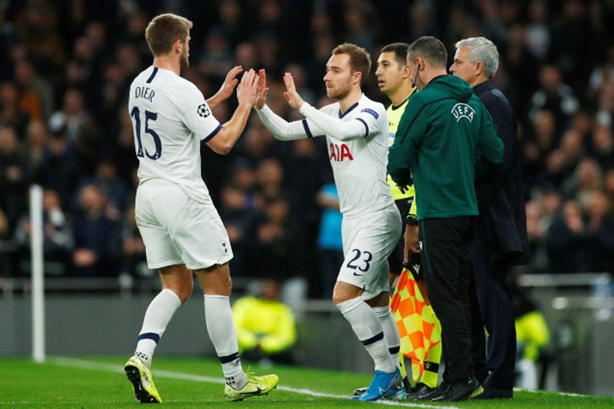 Christian Eriksen kom på banen efter 29 minutter, da Tottenham var bagud med 0-2. Foto: Eddie Keogh/Reuters
