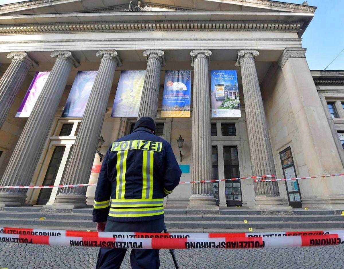 Mandag er Grüne Gewölbe, der er en del af et større kunstmuseum i Dresden blevet røvet for værdier svarende til en milliard euro. Gerningsmændene er på flugt. Foto: Scanpix