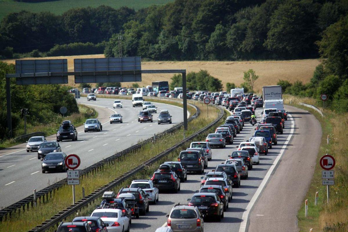 Den store omkørsel kan give problemer i trafikken. Arkivfoto: Elo Christoffersen